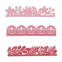 663618 - Sizzix Thinlits Die Set 3PK - Decorative Edges by Katelyn Lizardi